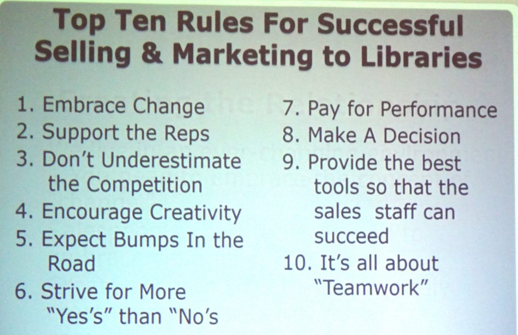 Rules for Successful Marketing to Libraries