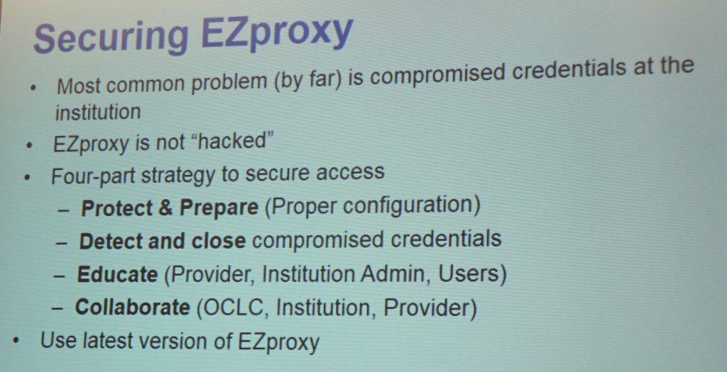 Securing EZProxy