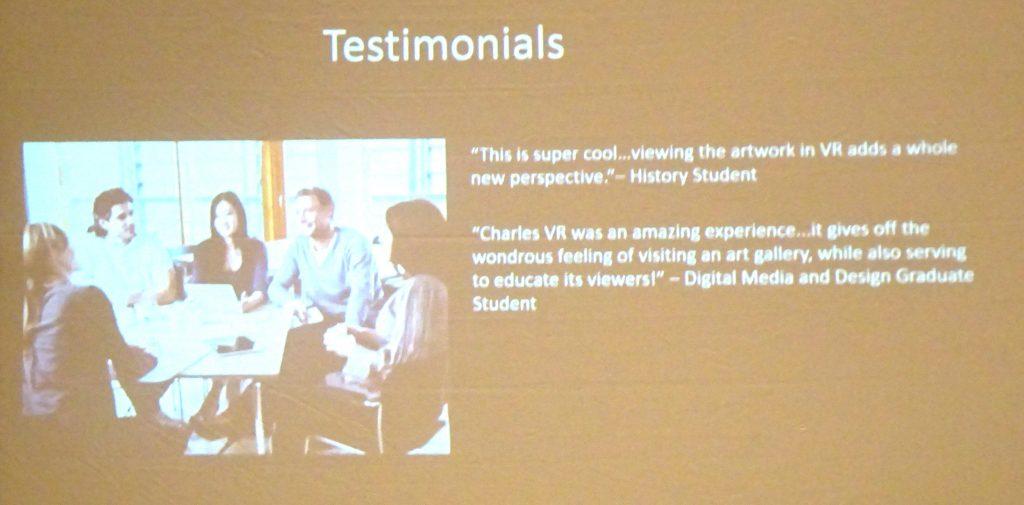 Charles VR Testimonials