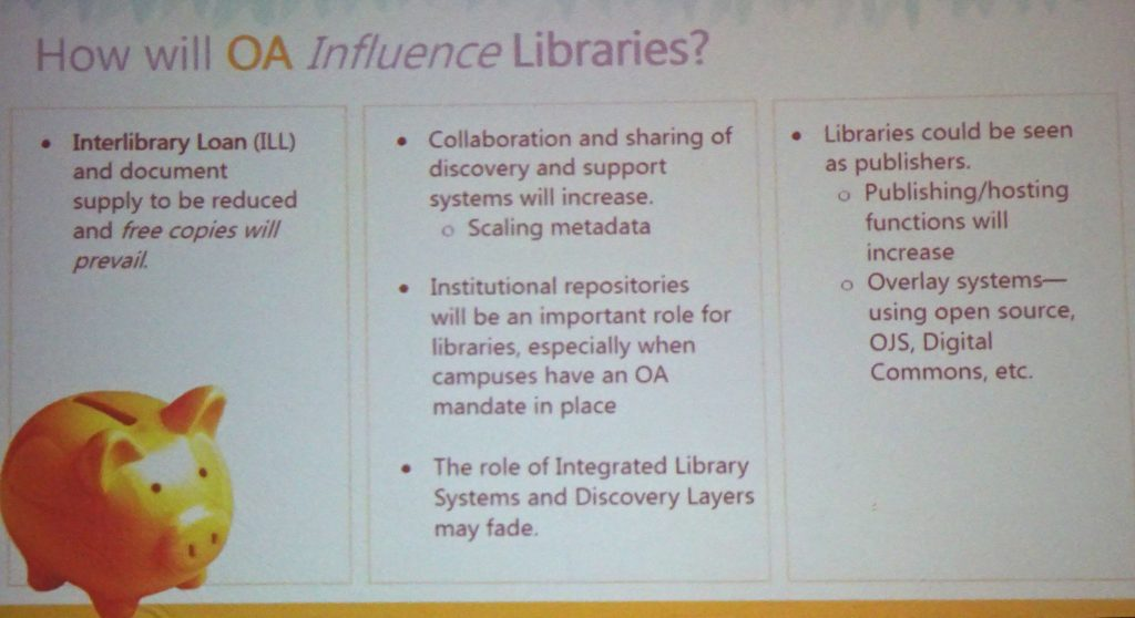 OA's influence on libraries