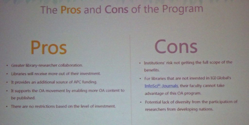 IGI Global pros and cons
