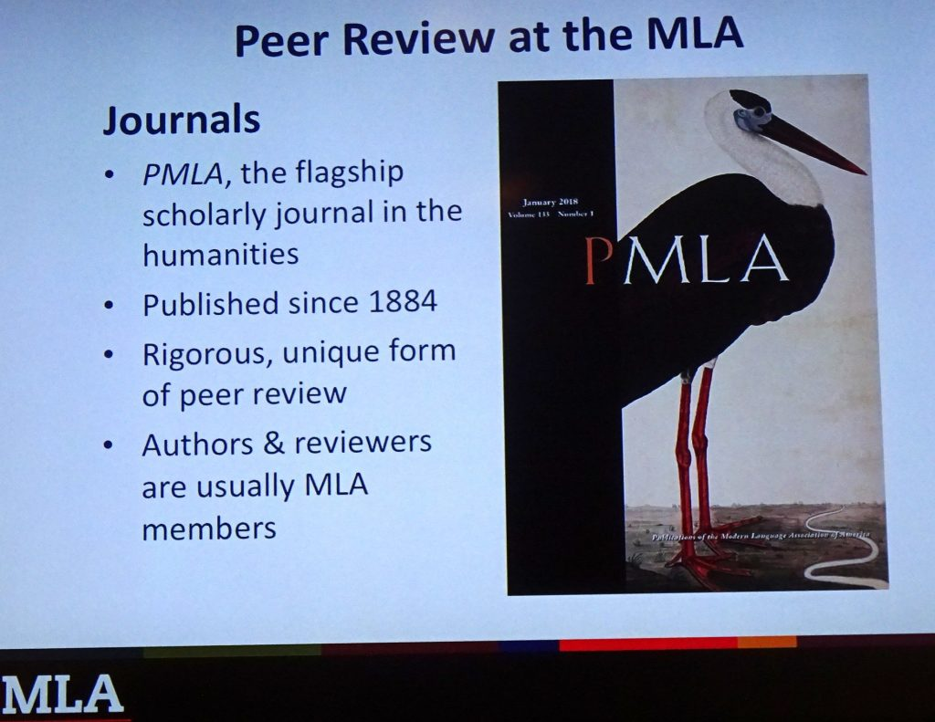 Peer Review at MLA