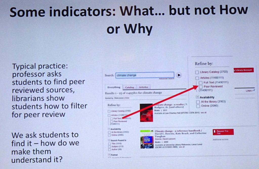 Peer review indicators