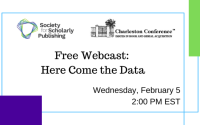 Charleston Conference – SSP Joint Webinar: Here Come the Data